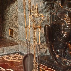 Инвентарь, лопатка для камина из бронзы