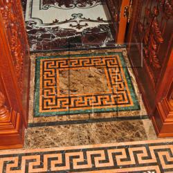 Пано мозаики из натурального камня для пола